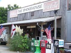 The smoke house, Greenville, alabama. Very cool place and amazing burgers