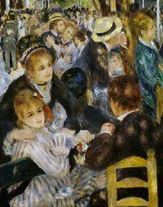 Pierre-Auguste Renoir - A.Renoir, Moulin de la Galette / Detail