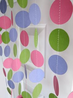 Paper Garland for photoshot background