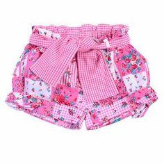 SHORT NIÑA LAZOS, JOAN / Color CHEIW / Talla 2 AÑOS [REF:1443] / TRASLUZ Short Niña, Short Girls, Sewing For Kids, Baby Sewing, Toddler Fashion, Kids Fashion, Little Girl Dresses, Girls Dresses, Jupe Short
