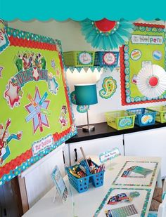 Adorable! Dots on Turquoise Classroom Theme - All products available at Adventures In Learning!