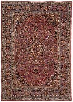 DABIR KASHAN, Central Persian6ft 0in x 8ft 7in Circa 1910