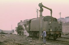 I believe this was the last loco to carry out this age old ritual at Rose Grove. Steam Railway, Train Art, Old Trains, British Rail, Model Train Layouts, Steam Engine, Steam Locomotive, Train Tracks, Model Trains