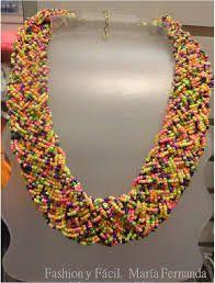 Resultado de imagen para como hacer un collar epnico en mostacilla