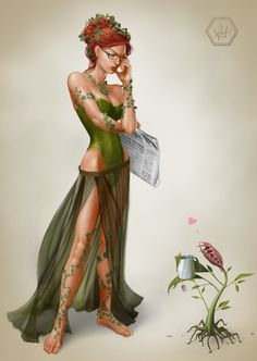Poison Ivy- this would be an awesome costume for comic con!!!