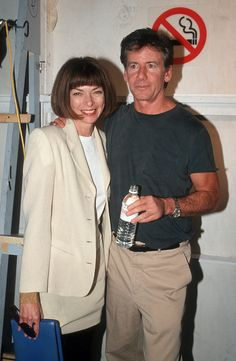 A young Anna Wintour with Calvin Klein at NYFW #fashion