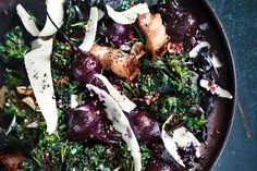 Balsamic-roasted beetroot, quinoa and kale salad. Photographed by Ben Dearnley