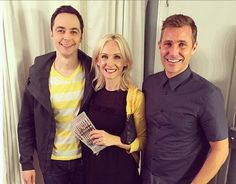 Jim Parsons with his makeup artist and her husband. An Act of God