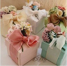 Bridal Shower Favors - Wedding Shower Favors Love the color scheme and the victorian feel. Could put money in box! Wedding Gift Wrapping, Creative Gift Wrapping, Creative Gifts, Wedding Gifts, Wrapping Gifts, Elegant Gift Wrapping, Wrap Gifts, Wedding Gift Boxes, Wedding Souvenir