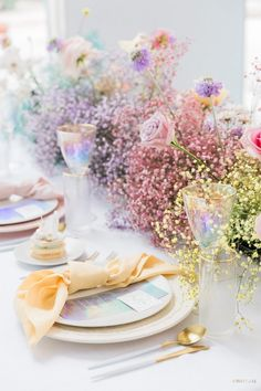 Our eyes are blissfully amazed by the rich, yet classy color palette which makes this iridescent style shoot sparkle! Pastel Wedding Theme, Rainbow Wedding, Wedding Colors, Wedding Flowers, Nautical Wedding, Spring Wedding, Dream Wedding, Wedding Goals, Wedding News