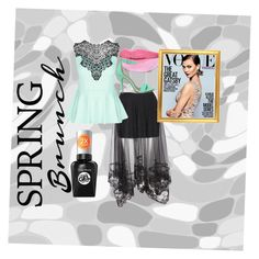 """""""Spring Brunch"""" by sparklemaster ❤ liked on Polyvore featuring City Chic, Shoe Republic LA and Sally Hansen"""