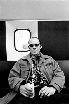 """""""Sleep late, have fun, get wild, drink whiskey and drive fast on empty streets with nothing in mind but falling in love and not getting arrested.""""  Hunter S. Thompson."""