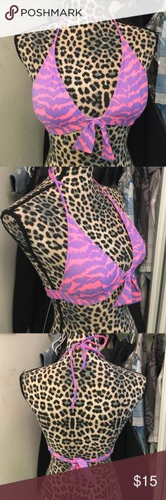 NWOT Bikini top by VS Super cute new without tags size medium has removable padding pink and purple by Victoria Secrets PINK Victoria's Secret Swim Bikinis