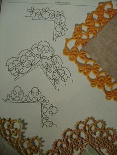 tatted edges - for cuffs, collars, hankies, linens, ... OH THE POSSIBILITIES!!