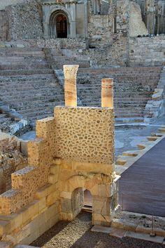 Roman Theatre ruins (Cartagena, Spain) by Lizzie927, via Flickr