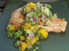 Grilled Salmon and Mango Salsa