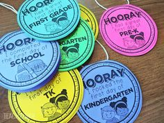 FREE First Day of School Necklaces for kindergarten, pre-k, first grade, tk