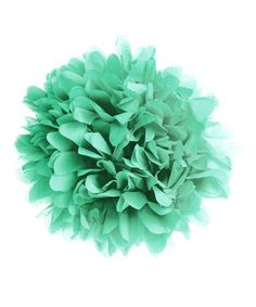 "4-14"" Poms Mint Green Tissue Paper Pom-Pom - Set of Four by Koyal Wholesale #zulily #zulilyfinds"