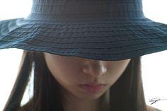 Japanese girl reading newspaper