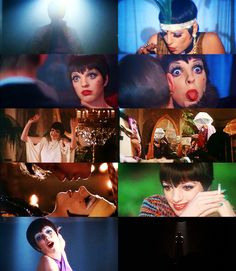 """I'm going to be a great film star - that is, if booze and sex don't get me first.""  Liza Minnelli as Sally Bowles in Cabaret (dir. Bob Fosse); 1972."