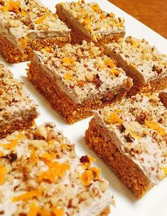 Raw Vegan Moist Carrot Cake with Cashew, Walnut & Orange Frosting Recipe Moist Carrot Cakes, Vegan Carrot Cakes, Frosting Recipes, Cake Recipes, Dessert Recipes, Savory Snacks, Healthy Treats, Vegan Sweets, Vegan Desserts