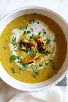 Roasting cauliflower brings out its nuttiness and enhances the flavors in this delicious, healthy soup. If you haven't jumped on the turmeric bandwagon yet, this is a great place to start! I like to r