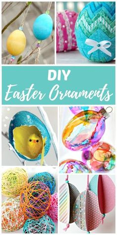 DIY Easter ornaments are for decorating Easter trees, centerpieces, and spring nature tables. Both kids and adults will enjoy making these easy Easter crafts. Easter ornaments are also a lovely way to decorate the home in the spring for the Vernal Equinox. #spring #easter #eastercrafts #eastereggs #diyholiday #ornament