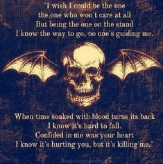 Unholy Confessions - Avenged Sevenfold Lyrics #Love