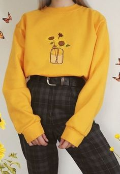 Buy & sell new, pre-owned & vintage fashion ASOS Marketplace Indie Outfits, Teen Fashion Outfits, Retro Outfits, Cute Casual Outfits, Girl Outfits, Yellow Outfits, Soft Grunge Outfits, Yellow Clothes, Soft Grunge Clothing