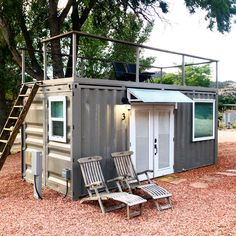Sea Container Homes, Building A Container Home, Container Cabin, Container Buildings, Container House Plans, Container House Design, Shipping Container Homes, Small House Design, Modern Tiny House