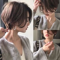 Pin on 髪型 Short Hair With Layers, Short Hair Cuts, Medium Hair Styles, Curly Hair Styles, Tomboy Hairstyles, Asian Short Hairstyles, Brown Hairstyles, Korean Short Hair, Shot Hair Styles