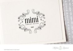 Premade logo design jewelry logo boutique logo by MadameLevasseur