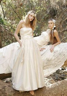 Ball Gown/ Trumpet Strapless/ Sweetheart Floor Length Attached Vegetable-Dyed Wedding Dress Style Blossom & Fern