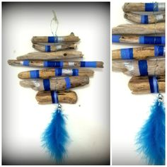 Mini Hand painted Beach Driftwood Dreamcatcher by mistysoul, £12.00