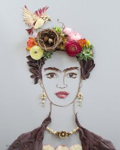 """""""Nesting Frida"""" Flower Face Print"""