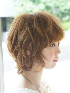 Pin on ウェーブボブ Medium Short Hair, Medium Hair Styles, Short Wavy, Short Hair Styles, Girls Haircuts With Layers, Little Girl Haircuts, Cut My Hair, New Hair, Asian Haircut