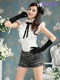 7fc7ca4306880 Luxury Tops Multilayer Ruffles Bow Vintage Fly Sleeve Shirt Women Blouse  SH02