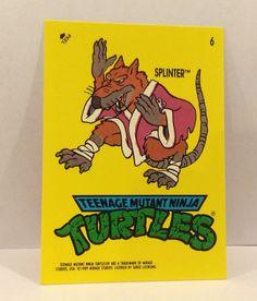 "1989 Teenage Mutant NINJA TURTLES ""Splinter"" Sticker  Trading Card - TripleGCollectibles, $2.00"