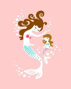 11X14+mermaid+mother+