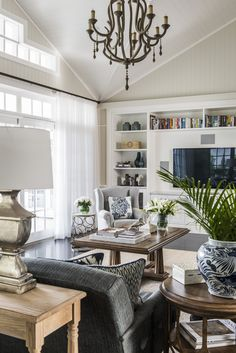 Living Room Ideas, Living Room Designs, Living Spaces, Living Rooms,  Hampton Style, Beach Houses, Houzz, Panelling, Style Ideas