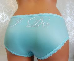 Bridal panties: Light Aqua Hipster Bridal Panties by BluIntimates