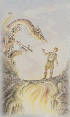 Celtic Dragon Tarot (DJ Conway, Lisa Hunt): 2 of Swords
