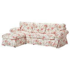 Ikea Ektorp Sofa Cover For Loveseat With Chaise Slipcover Byvik Multicolor