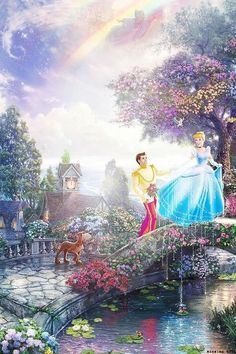 Disney Princess Drawings, Disney Princess Art, Disney Drawings, Walt Disney, Disney Love, Disney Pixar, Disney Images, Disney Pictures, Thomas Kinkade Disney