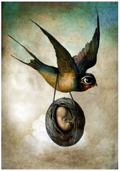 Everything is gestation. To await with deep patience the birth-hour of a new clarity: that alone is living the artist's life...  ~Rilke (paraphrased) | Image: Catrin Welz-Stein