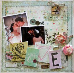 Love Wedding Layout - Scrapbook.com