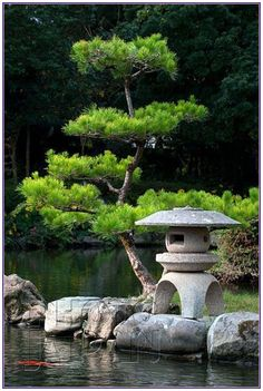 japan garden Japan - A koi fish swims past a stone lantern at Tensha-en garden in Uwajima, Shikoku - Image by Photo Japan Asian Garden, Japanese Garden Backyard, Japanese Garden Landscape, Small Japanese Garden, Japanese Garden Design, Japanese Gardens, Japanese Style, Zen Gardens, Japanese Fence
