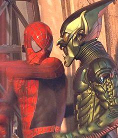 Marvel in film n°6 - 2002 - Spider-Man - Tobey Maguire as Spider-Man & Willem Dafoe as Green Goblin