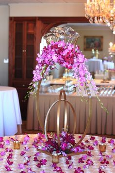 The Ring (With Orchids) Custom Event Decor, currently available throughout NJ, NYC & CT from Couture Event Rentals.