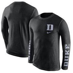 80a8cef65feb Nike Duke Blue Devils Black Tri-Fresh Long Sleeve T-Shirt